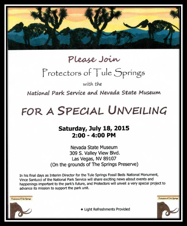 NSM Tule Springs Event July 18, 2015