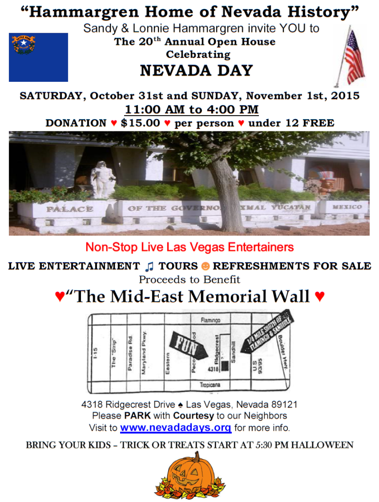 Hammargren's Nevada Day 2015