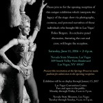 NSM Folies Bergere exhibit opening and LVTGG member gathering