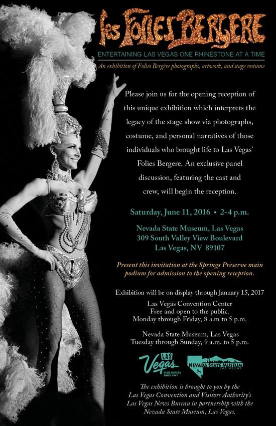 NSM Folies Bergere Exhibit Opening flier June 11, 2016
