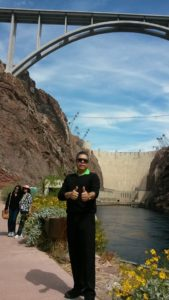 Oscar Ortiz at Hoover Dam, Colorado River