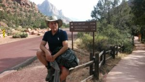 Oscar Ortiz at Zion NP